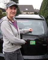 Noordlandflagg auf Auto